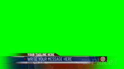 Lower Third Banner Video Maker with a News Show Aesthetic 3013-el1