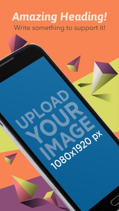 Black Angled Samsung Galaxy Android Screenshot Generator 1325