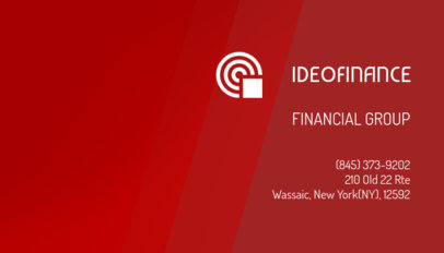 Business Card Design Creator for a Financial Advisor 148c