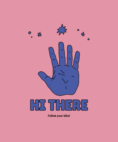 T-Shirt Design Creator Featuring a Waving Hand Graphic 4017f