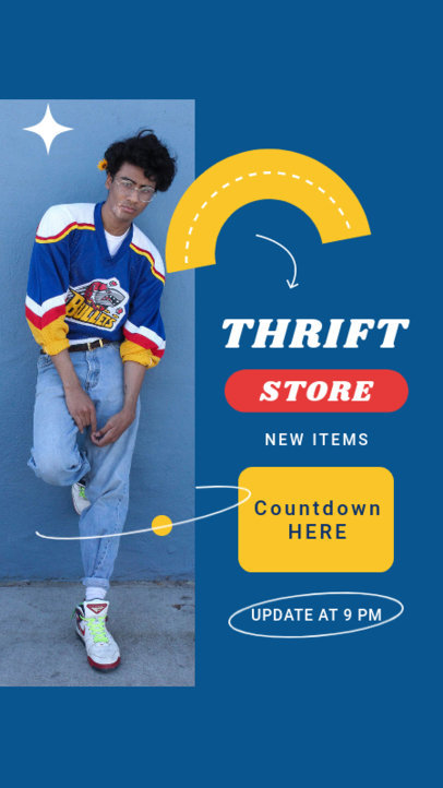 Retro Instagram Story Design Template for a Thrift Store 4037c-el1