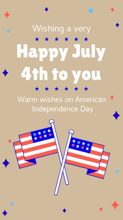 Instagram Story Template to Celebrate 4th of July Featuring American Flag Graphics 3752d