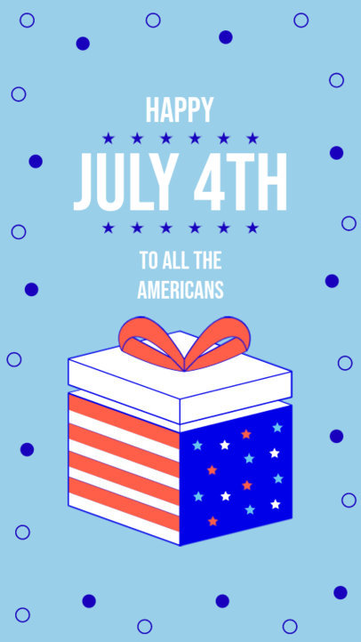 Instagram Story Maker With a Happy 4th of July Message and a Gift Illustration 3752j