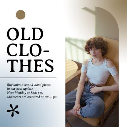 Instagram Post Template to Sale Vintage Clothing Garments 4039d-el1