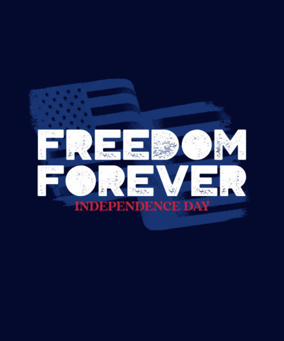 T-Shirt Design Generator with a Patriotic Quote for USA Independence Day 3751g