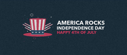 Facebook Cover Template with an American Independence Day Quote 3755a