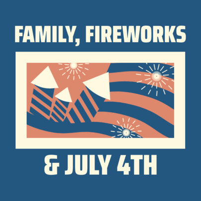Instagram Post Generator for an Independence Day Family Reunion 3753a