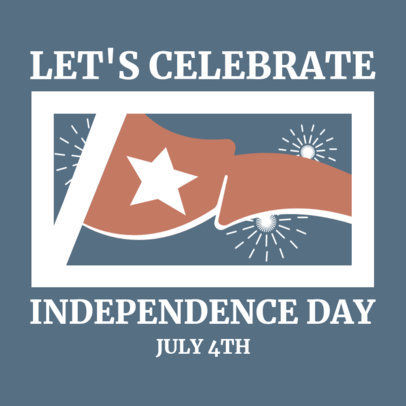 Instagram Post Maker for an American Independence Day Festivity 3753g