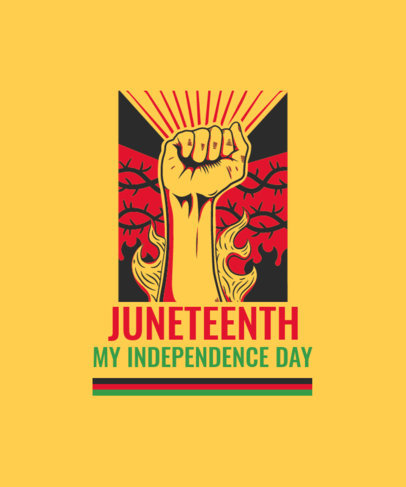 Illustrated T-Shirt Design Generator With a Juneteenth Theme 3773b