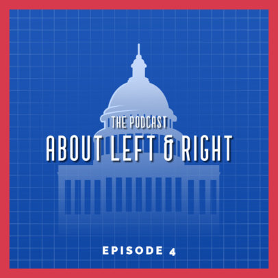 Political Podcast Cover Template 4398k