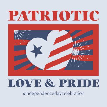 Patriotic Instagram Post Creator Featuring an American Pride Quote 3753e