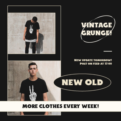 Instagram Post Template With a Second-Hand Fashion Theme 4041d-el1
