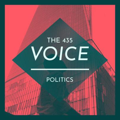 News and Politics Podcast Cover Design Generator 4396e