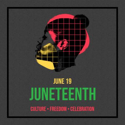 Juneteenth-Themed Instagram Post Maker 3773