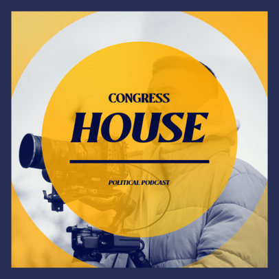 Political Podcast Cover Generator 4396h