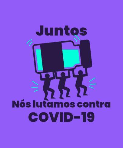Quote T-Shirt Design Maker for a COVID-19 Vaccination Campaign 3741f
