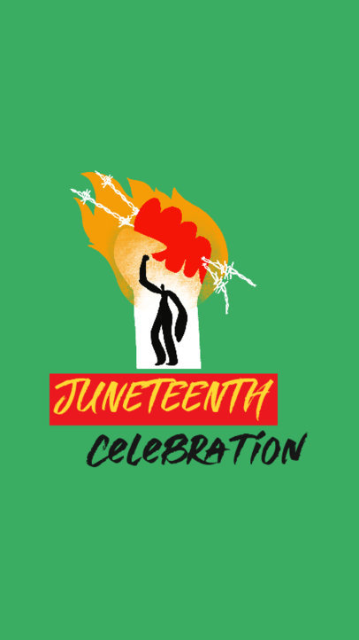 Illustrated Instagram Story Design Template With a Juneteenth Celebration Theme 3773b