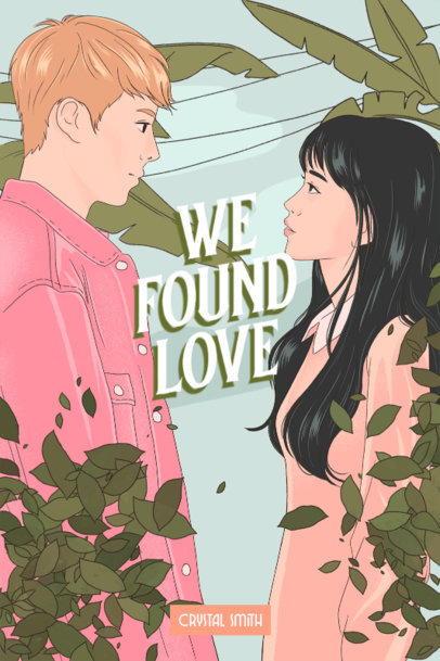 Book Cover Generator with an Illustration Inspired by Teen Romance Novels 3748b
