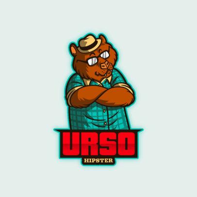 Gaming Logo Template Featuring an Anthropomorphic Bear 4388a