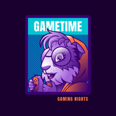 Logo Maker with a Gamer Guinea Pig Character Graphic 4390h