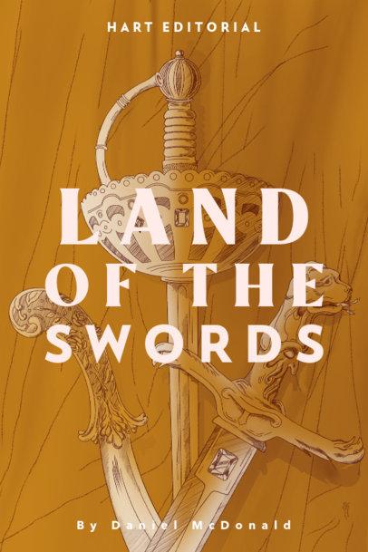 Book Cover Design Generator Featuring Three Swords 3747d