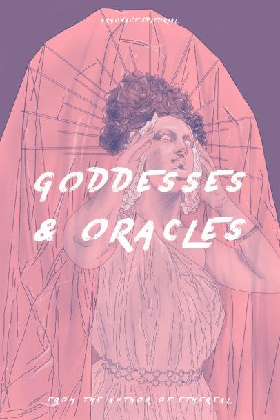 Fiction Book Cover Design Maker Featuring the Statue of a Goddess 3747e
