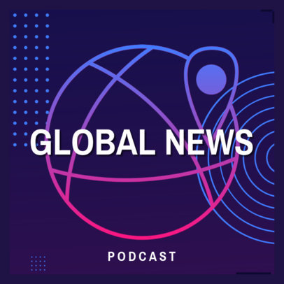 Podcast Cover Generator With a Global News Theme 4398d