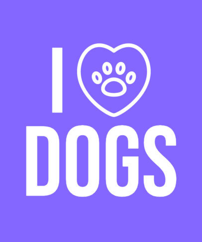 T-Shirt Design Generator for Pet Owners Featuring a Heart with a Dog Paw a27j 3768