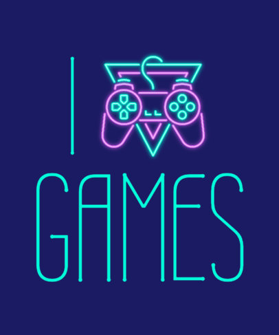Quote T-Shirt Design Template for Gamers Featuring a Controller Icon a27n 3768