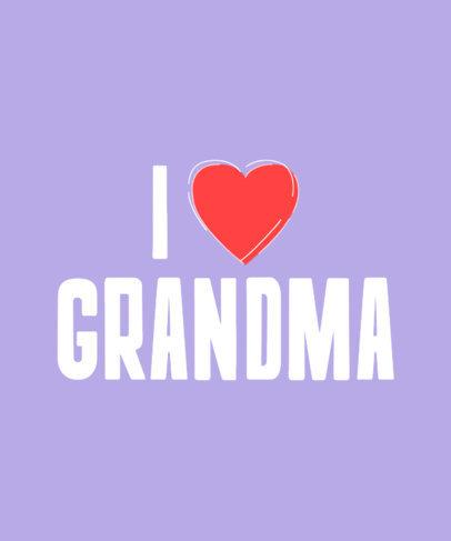 T-Shirt Design Template with an I Love Grandma Text a27c 3768