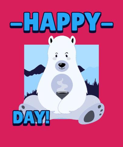 T-Shirt Design Creator for Canada Day Featuring a Happy Polar Bear Graphic 3774e
