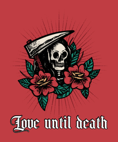T-Shirt Design Maker with a Tattoo-Styled Grim Reaper Illustration 4055g-el1