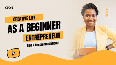 YouTube Thumbnail Creator for a Beginner Entrepreneur Tips Video 4069b-el1