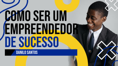 Business-Related YouTube Thumbnail Design Maker with Text in Portuguese 4073c-el1