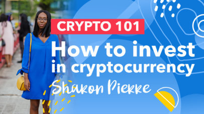 YouTube Thumbnail Maker for a Cryptocurrency Course 4067f-el1