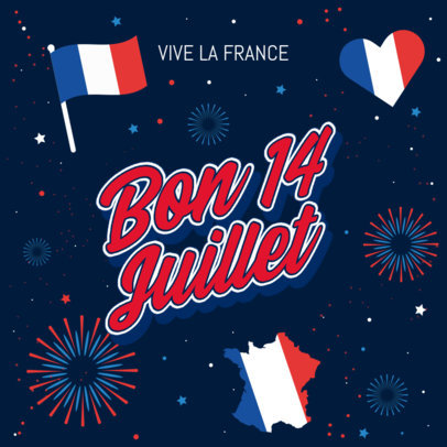 Instagram Post Generator with a Patriotic Vibe to Celebrate France 3771b