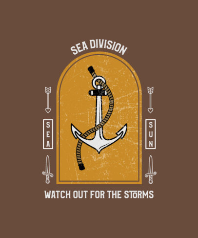 T-Shirt Design Generator with an Anchor Icon in a Frame 4053e-el1