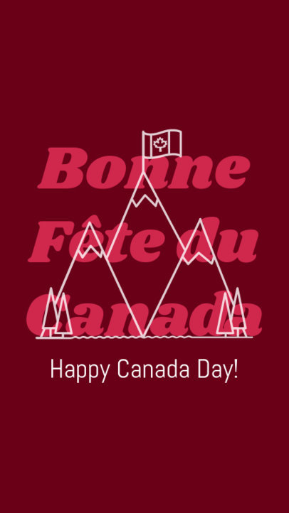 Instagram Story Maker With a Happy Canada Day Message 3779c
