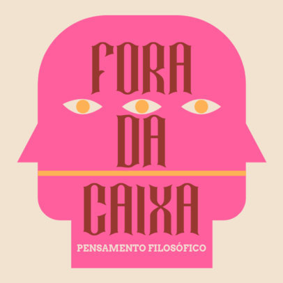 Philosophy Podcast Cover Maker with a Portuguese Text 4417b