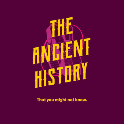 Podcast Cover Creator for a Show About Ancient History 4413d