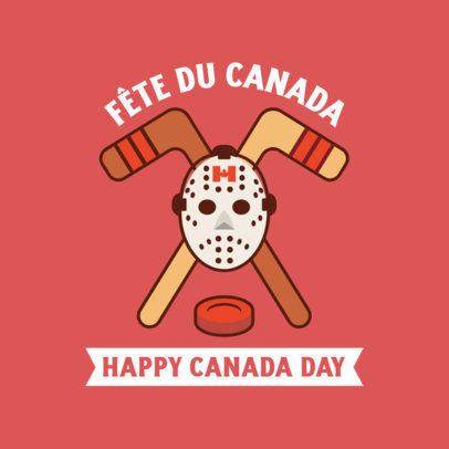 Instagram Post Creator for Canada Day with Hockey Gear Graphics 3777b