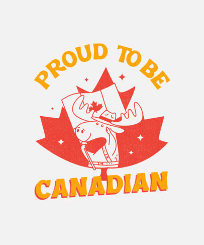 T-Shirt Design Generator with a Proud Moose Waving a Canadian Flag 3775e