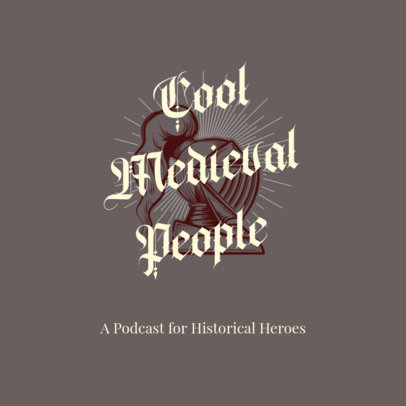 Cover Design Template for a History Podcast 4413i