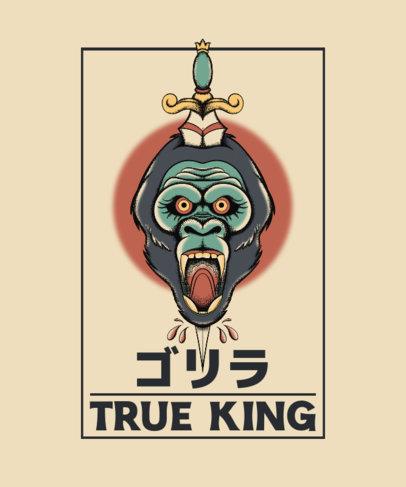 Tattoo-Inspired T-Shirt Design Creator with a Beast-Killing Dagger Graphic 4059f-el1