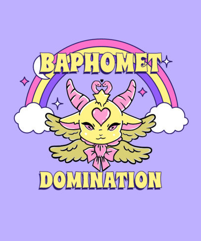 Baphomet-Themed T-Shirt Design Maker with a Cute Illustration 3761f