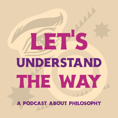 Podcast Cover Design Creator for a Philosophy Show 4417n