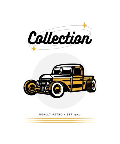 Social Clubs T-Shirt Design Maker With a Vintage Car Graphic 4100d-el1