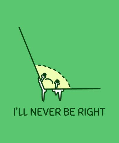 Humorous T-Shirt Design Template Featuring a Math Pun 3796e
