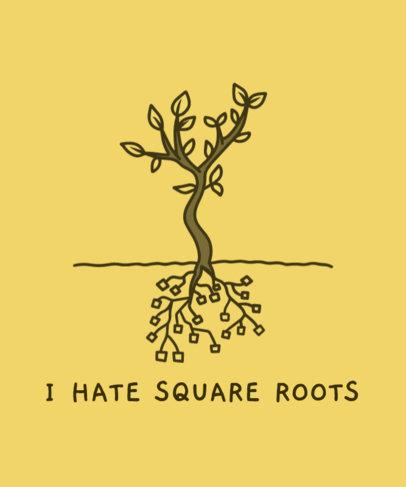 Illustrated T-Shirt Design Maker Featuring a Math Joke 3796c