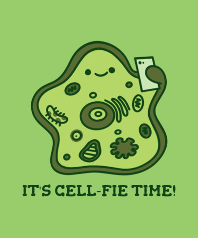 Funny T-Shirt Design Generator Featuring a Cute Cell Graphic 3796g